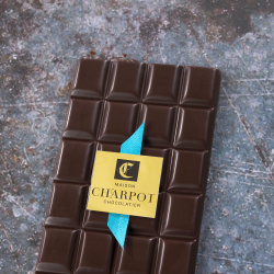 Tablette en chocolat noir pur Madagascar 64 % de cacao (Manjari)