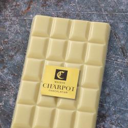 Tablette en chocolat blanc 35 % de beurre de cacao