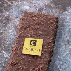 Tablette en chocolat La Croustillante noir 66 % de cacao