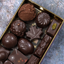 Ballotin de chocolats noir exclusivement